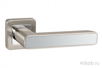 Дверная ручка Punto - MARS QR SN/CP-3 матовый никель/хром