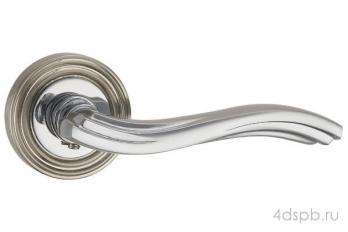 Дверная ручка Punto - VENTO ML SN/CP-3 матовый никель/хром