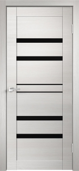 Межкомнатная дверь Welldoris Linea 6 дуб белый поперечный