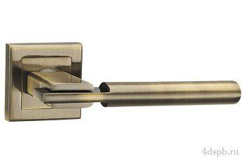 Дверная ручка Punto - CITY QL ABG-6 зеленая бронза