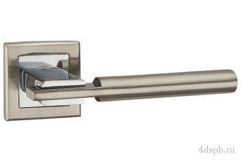 Дверная ручка Punto - CITY QL SN/CP-3 матовый никель/хром