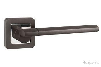 Дверная ручка Punto - GALAXY QR GR/CP-23 графит/хром