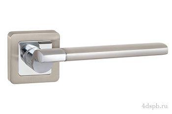 Дверная ручка Punto - GALAXY QR SN/CP-3 матовый никель/хром