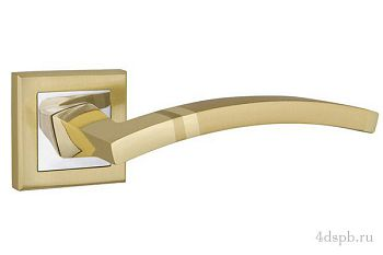 Дверная ручка Punto - NAVY QL SG/CP-4 матовое золото/хром