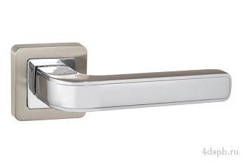 Дверная ручка Punto - NOVA QR SN/CP-3 матовый никель/хром