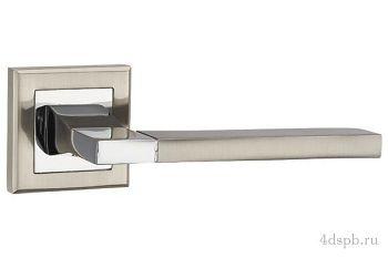 Дверная ручка Punto - TECH QL SN/CP-3 матовый никель/хром